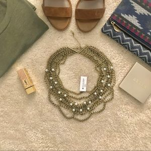 Pearl Courtney Bib Necklace from Baublebar